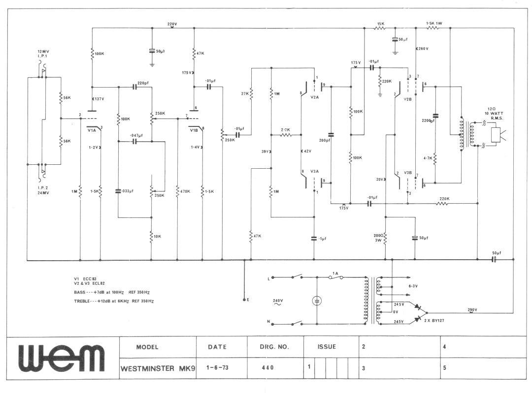 Westminster Mk IX Schematic | Wem Owners Club