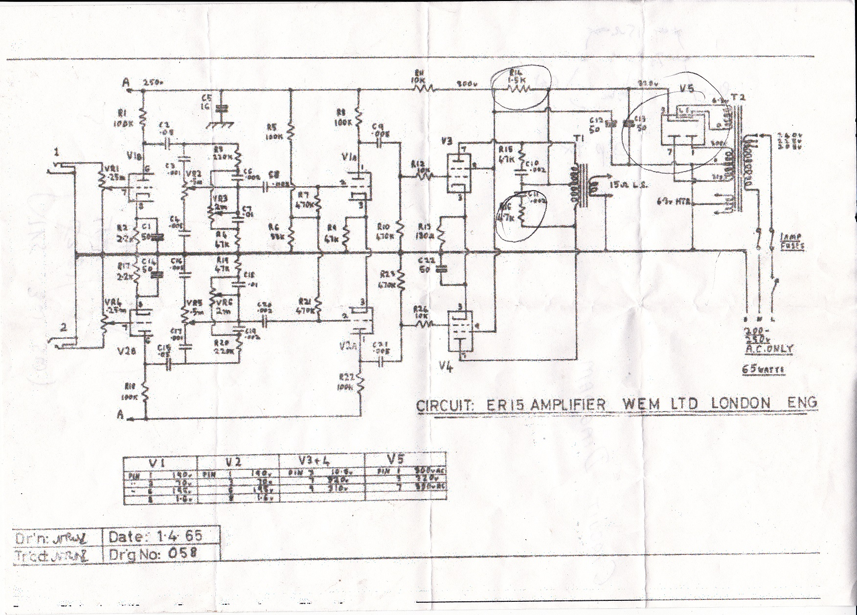 ER15-Schematic Watkins Westminster Schematic on