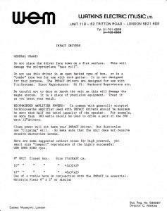 Impact drivers letter