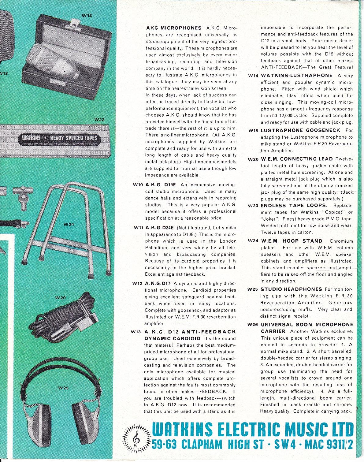 Wem Brochures From 1960s  X2